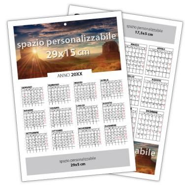 Calendario da muro mono foglio plastificato 2021
