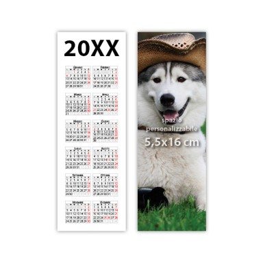 Calendario segnalibro 2019