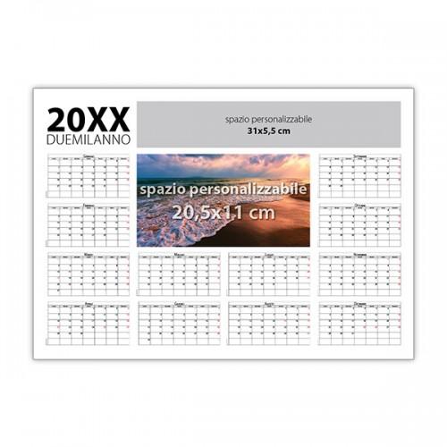 Calendario Da Scrivania 2020.Calendario Planning Da Tavolo Plastificato 2020